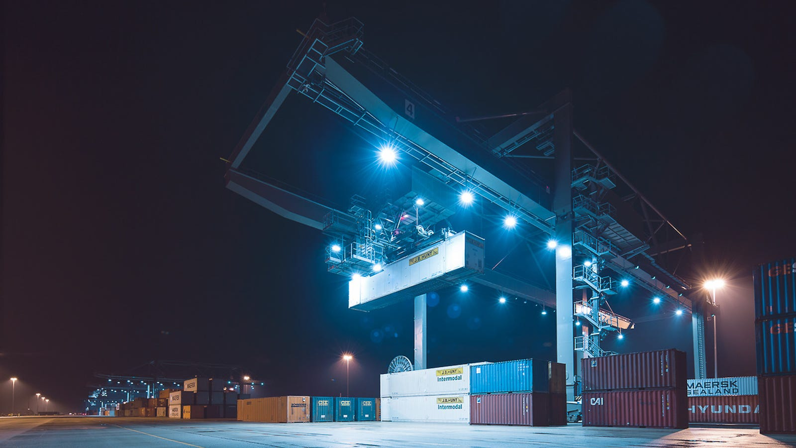 The Eye-Popping Science Fiction of Freight Yards at Night