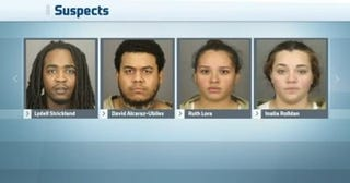 Four of the individuals who were sentenced in the horrific abduction and torture of two University of Rochester studentsTwitter