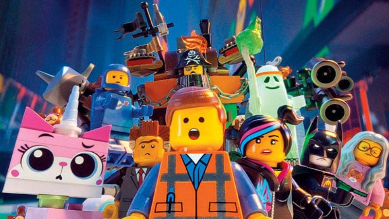 Illustration for article titled The Lego Movie was white people's favorite film of 2014, statistics show