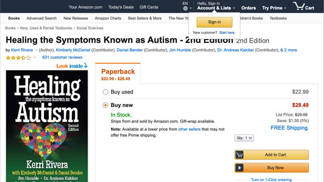 Amazon Pulls Books Peddling Toxic  Autism Cures