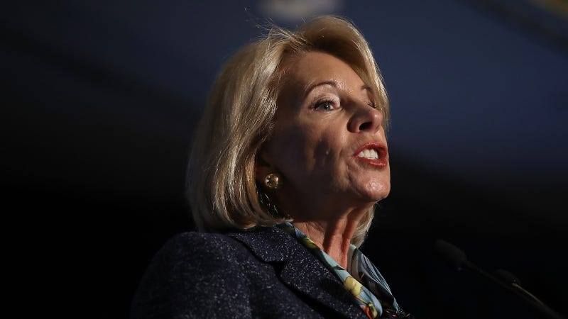 Illustration for article titled Betsy DeVos Believes 'School Choice' Includes Schools Choosing to Report Undocumented Students to ICE