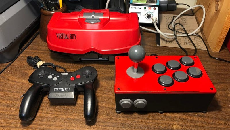 The BX-240, a Virtual Boy arcade stick made specifically for the unofficial Hyper Fighting