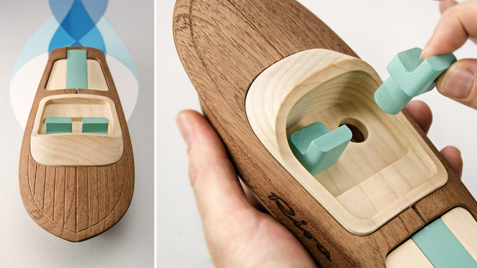 Hand-Finished Wooden Toy Boats Too Beautiful To Ever Get Wet