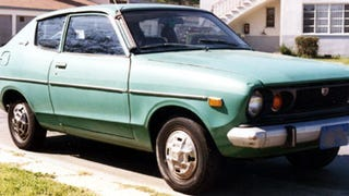 It's adorable! I'd love to have something like this. Now that I'm a fully functioning adult with a job and savings account and what not, I can afford to have a new car (and I do). But I still miss the smell and feel of old cars. I have so much affection for the little Datsun B210 I used to have (looked like this picture, but with 100% more rust). Something about the mechanical feel of it all. Don't get me wrong, I wouldn't give up the reliability and practicality of my current car (Outback), but the idea of an slow, old, charming car like the Fiat 500 makes me smile.