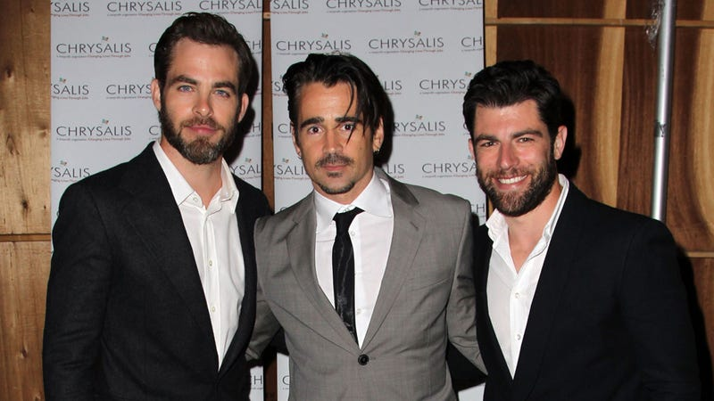 Illustration for article titled Chris Pine, Colin Farrell, and Max Greenfield. That Is All.