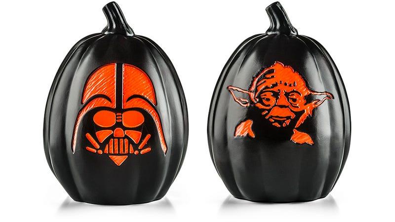 Illustration for article titled Pre-Carved Star WarsPumpkins Let You Skip Scraping Out Those Guts