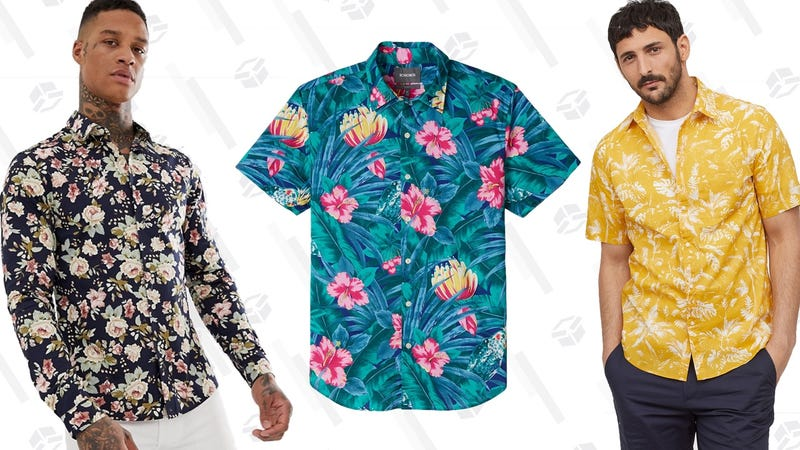 ASOS Design Skinny Fit Floral Shirt | Bonobos Riviera Shirt | H&M Short-Sleeve Shirt