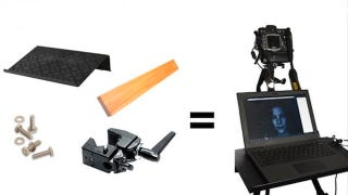 Illustration for article titled Build Your Own Tripod-Mounted Laptop Stand on the Cheap