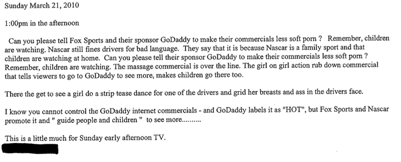 Boners FBombs And GoDaddy Inside NASCARs 18359 FCC Complaints