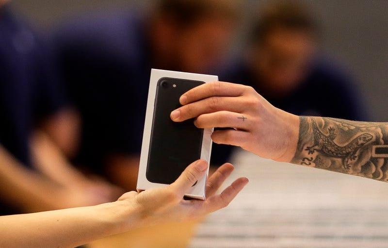 Venta de in iPhone en una Apple Store de Berlín.