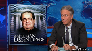Illustration for article titled Jon Stewart: Scalia Used The Old Man Dictionary To Write His Dissent
