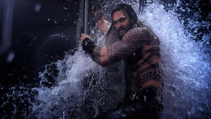 Aquaman, comfortable. Jason Momoa, probably cold.
