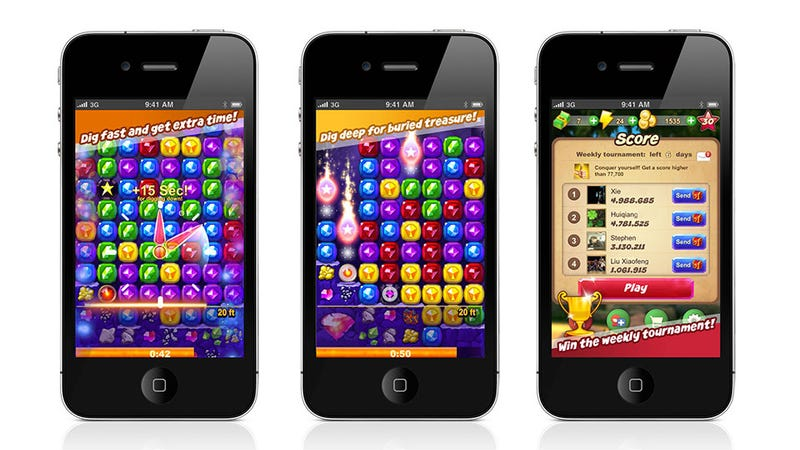 Illustration for article titled Zynga Brings Ruby Blast to iPhone Today, Bubble Safari Coming Soon