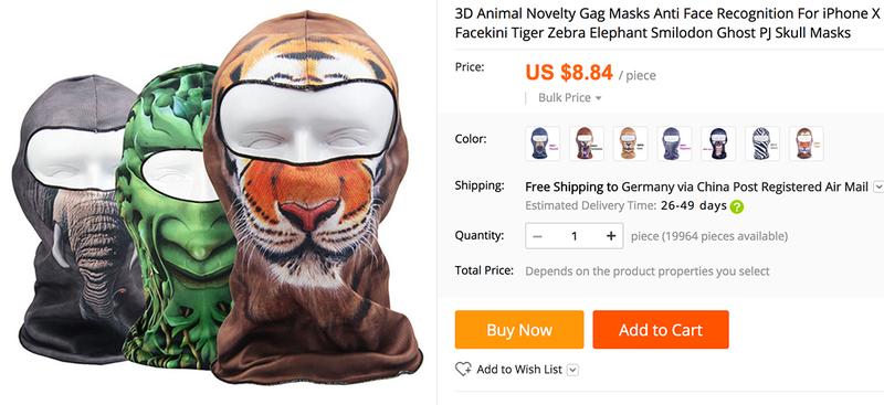 Illustration for article titled Es imposible que alguien desbloquee el iPhone X con tu cara mientras duermes, pero ya hay máscaras anti-Face ID