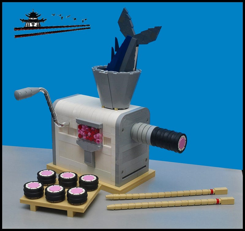 Illustration for article titled I wish making sushi was as easy as this Lego machine makes it look