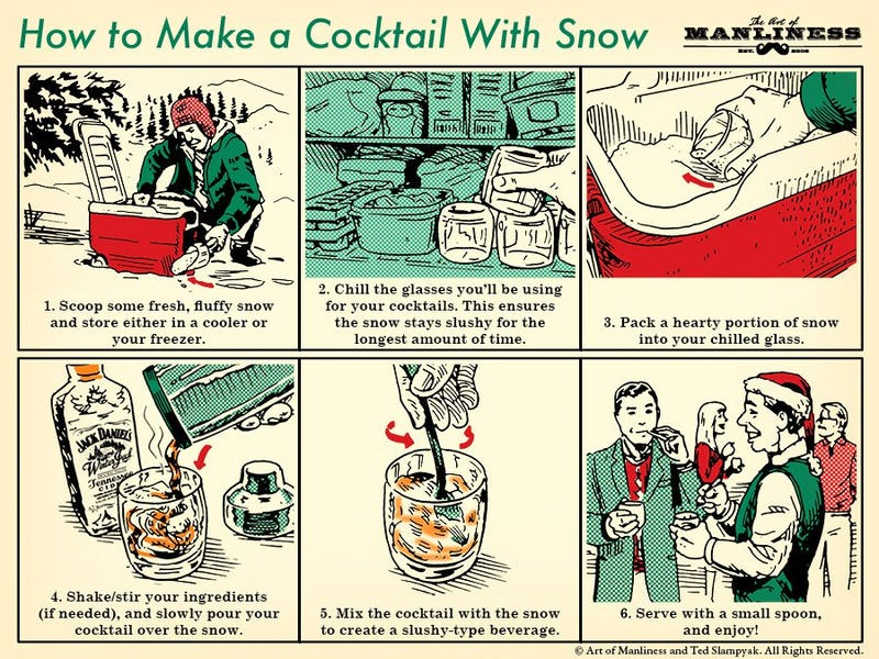 Illustration for article titled Make a Cocktail With Snow at Your Holiday Party This Winter