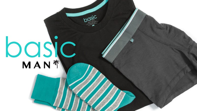 Illustration for article titled Buy One Box, Get One Free: Fresh Tees, Underwear, and Socks From Basic MAN ($20)