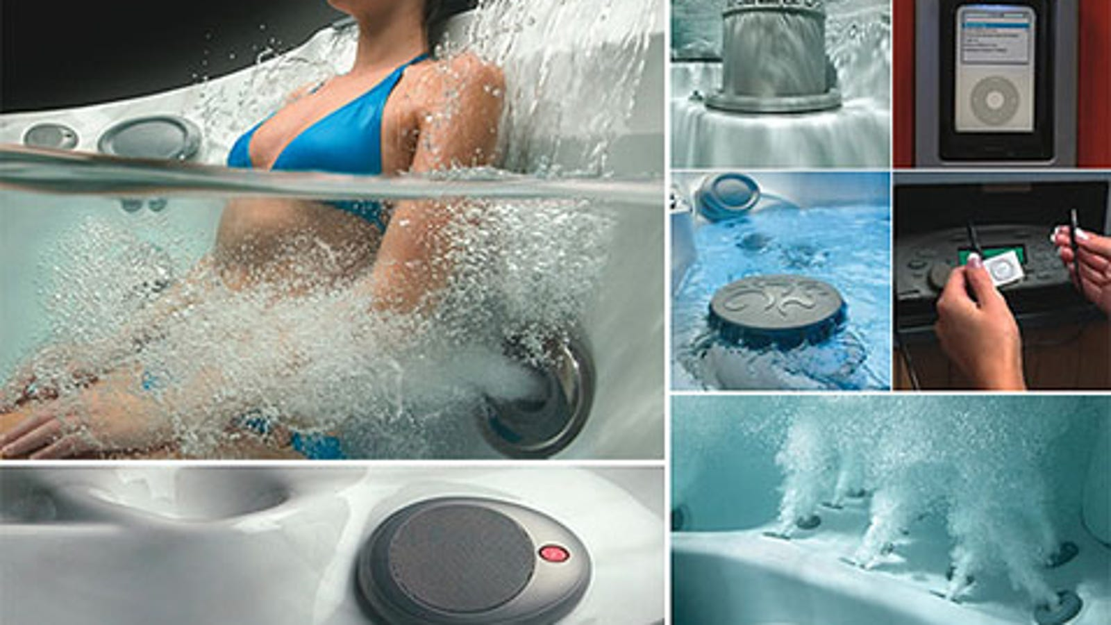 New Jacuzzi J400 Hot Tub Is All About The Ipod - Icarta-ipod-dock-and-toilet-roll-dispenser