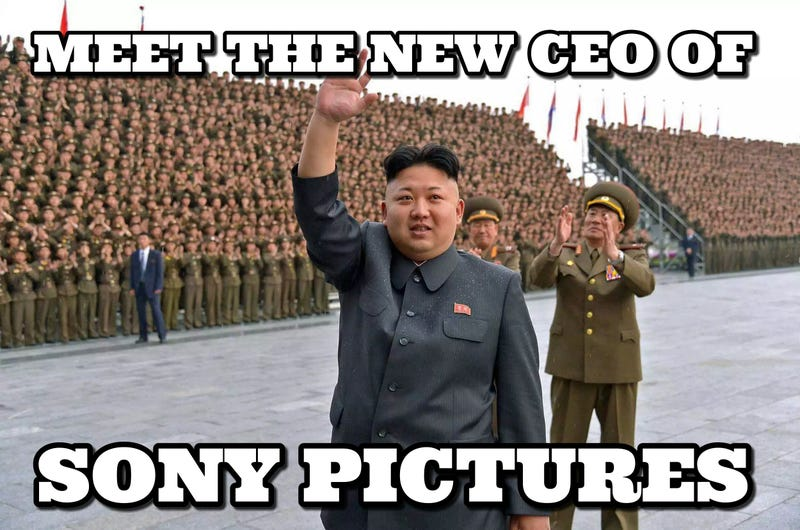 Illustration for article titled Az Észak-Koreától berezelő Sonyn gúnyolódik az internet