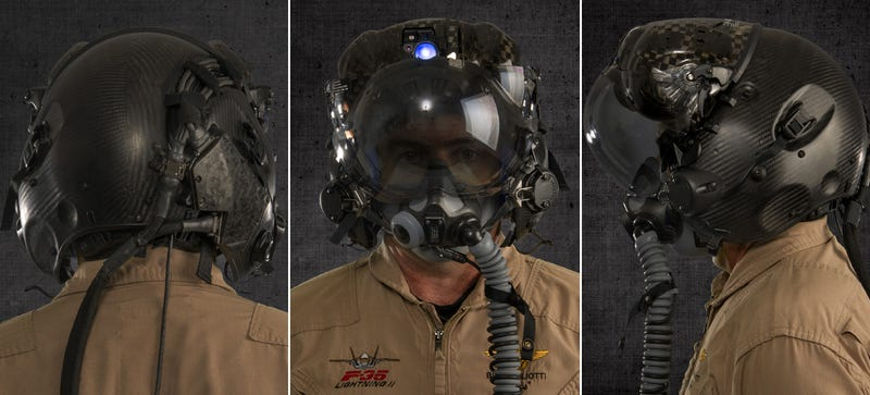Illustration for article titled The $400,000F-35 Pilot Helmet Can See Through the Pilot's Aircraft