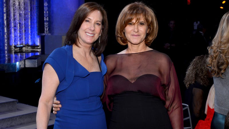 Producer Kathleen Kennedy (L) and producer/former Co-Chairman of Sony Pictures Amy Pascal in 2013.