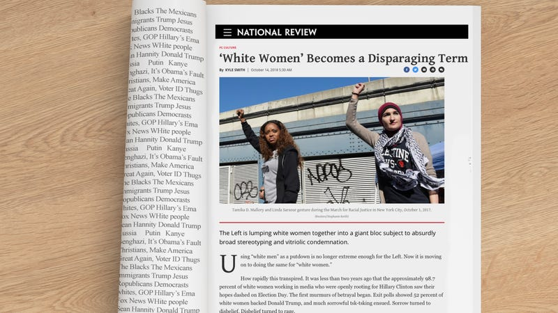 Illustration for article titled A Requiem for 'White Women,' Which the National Review Says Is a 'Disparaging Term'