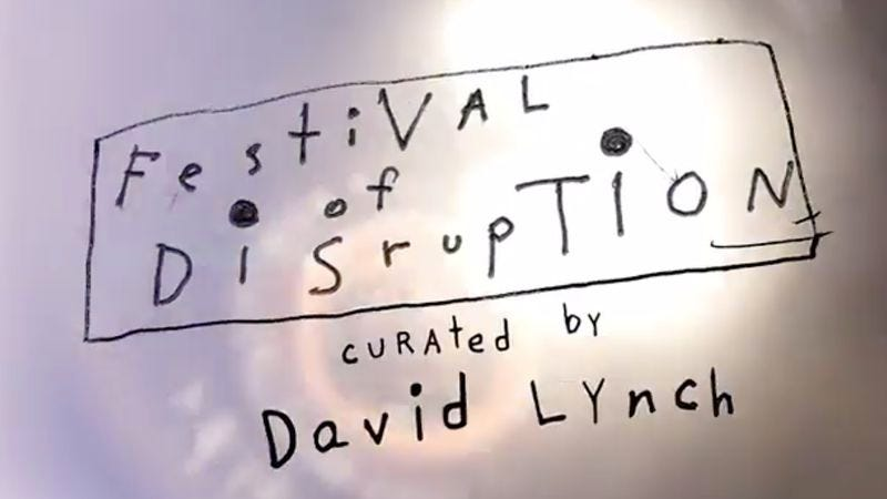 Illustration for article titled David Lynch is curating a predictably weird festival