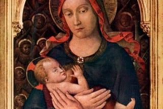 Illustration for article titled Miért olyan ijesztően rondák a csecsemők a középkori festményeken?