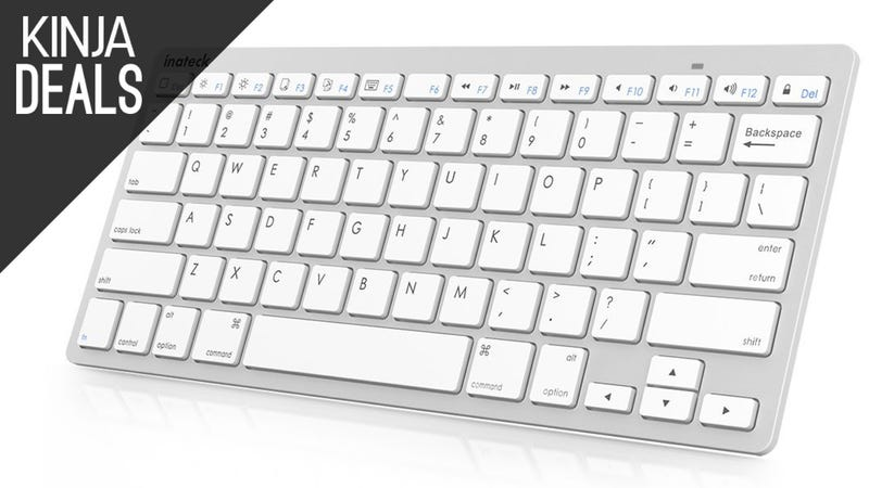 Illustration for article titled This $15 Aluminum Keyboard Works With All of Your Devices