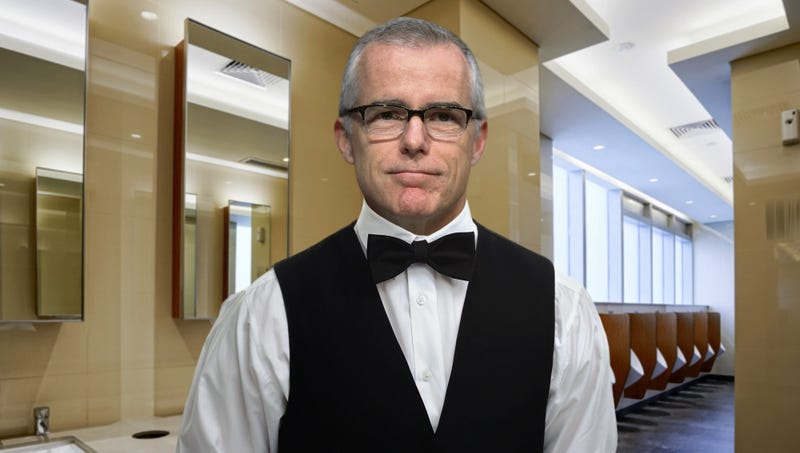 Illustration for article titled Andrew McCabe Spending Few Days As Congressional Bathroom Attendant To Satisfy Pension Requirements