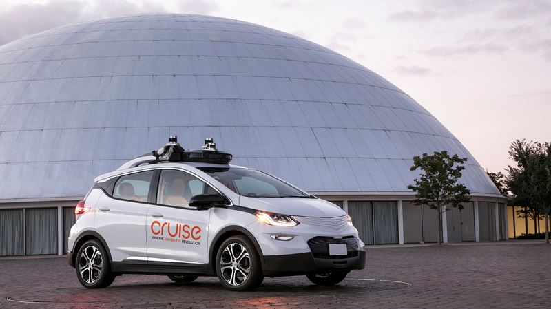 One of GM's self-driving test vehicles