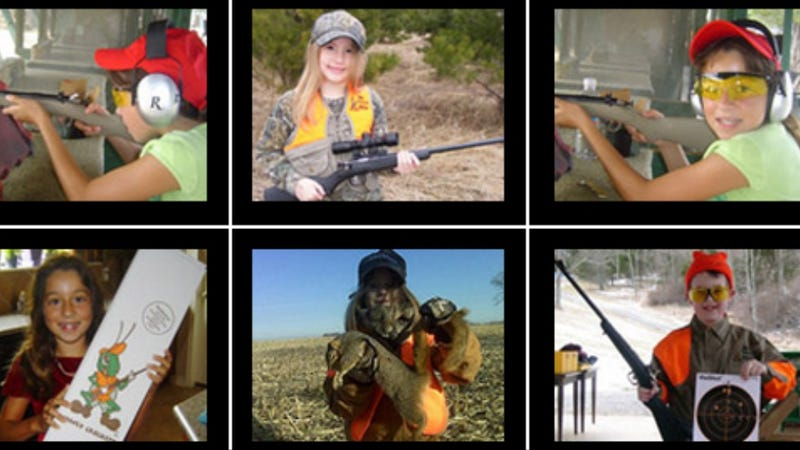 Illustration for article titled Check Out These Adorbs Photos of Toddlers Holding Their 'First Rifles'