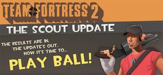 Illustration for article titled Team Fortress 2 Scout Update Live, Now Ridiculously Cheap