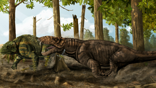 "Illustration for article titled Google Maps finds mammal-like ""hypercarnivore"" who ruled Earth long before the dinosaurs"