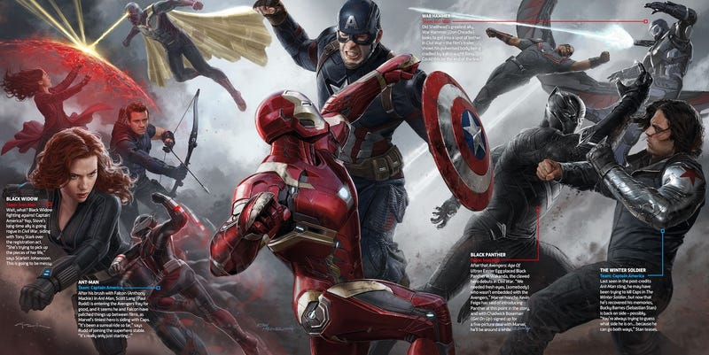 "Illustration for article titled ""War Hammer"" Joins the Fray in This New Captain America: Civil War Art—Wait, Who?"