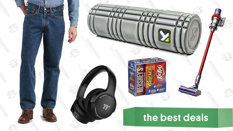 Illustration for article titled Wednesday's Best Deals: Noise Canceling Headphones, Levi's, Foam Rollers, and More