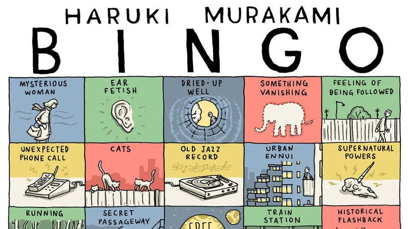Illustration for article titled Here's how to play Haruki Murakami Bingo as you read his books