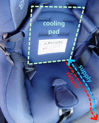 Illustration for article titled DIY Liquid Cooled Car Seats Keep Kids Cool in the Summer