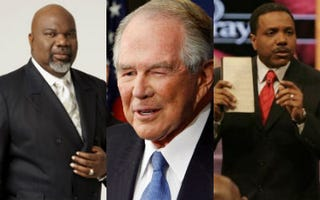 T.D. Jakes; Pat Robertson (Chip Somodevilla/Getty Images); Creflo Dollar