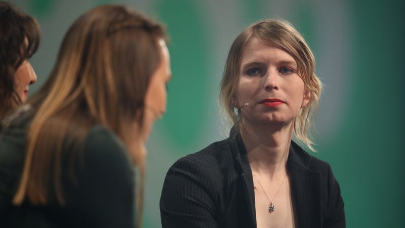 Whistle blower and activist Chelsea Manning, in what she said is her first trip outside of the United States since she was released from a U.S. prison, speaks at the annual re:publica conferences on their opening day on May 2, 2018 in Berlin, Germany.