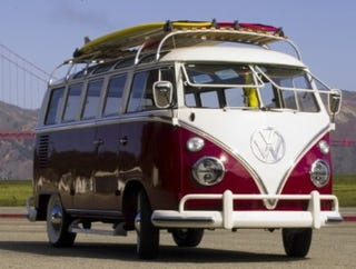 a new old bus: volkswagen updates a 1964 microbus with gadgets