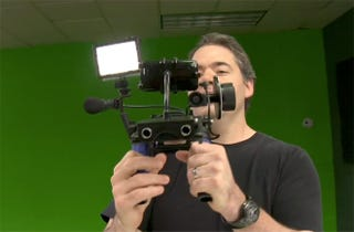 Illustration for article titled Putting the iPhone 3GS in a Shoulder Mount May Be Overkill