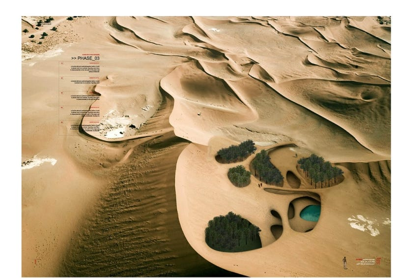 Illustration for article titled Architecture Student Proposes Bacterially-Grown Wall Across the Entire Sahara Desert