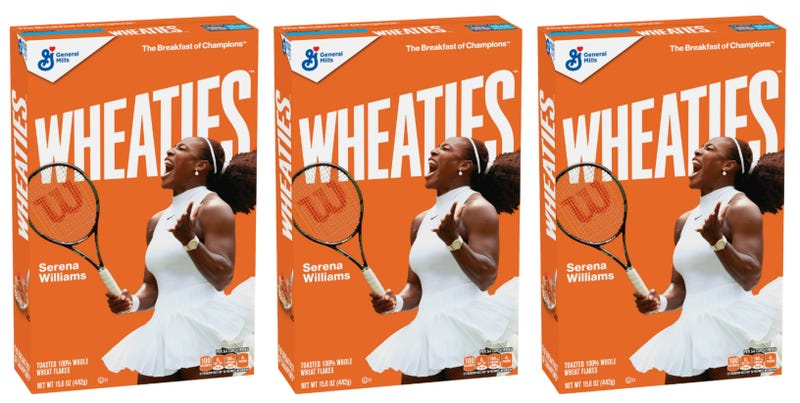 Illustration for article titled Breakfast of Champions: Serena Williams Scores Her 1st Wheaties Box!