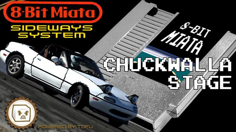 Illustration for article titled The 8-Bit Miata Drift Car Returns: Chuckwalla Stage