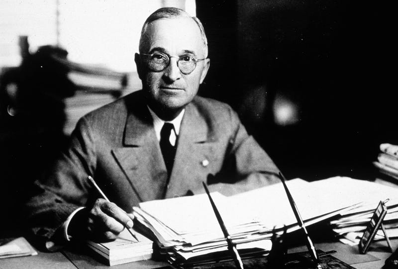 Illustration for article titled President Harry S. Truman's middle name is just the letter S