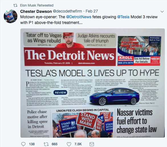 Why Did The Detroit News Change A Snub On The Tesla Model
