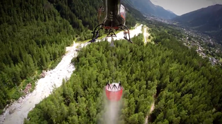 This Helicopter 'Bambi Bucket' Demo In The Alps Is Gorgeous
