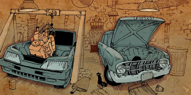 Illustration for article titled Mr. Regular Explains How Moving An Engine Tells Everyone You're A 'Man'