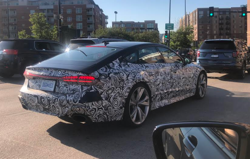 Illustration for article titled This Looks Like the 2020 Audi RS7 Sportback in Camo Running Around Denver